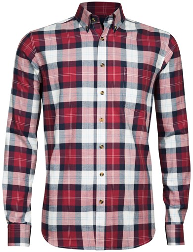 Rød - Basic Flannel Shirt
