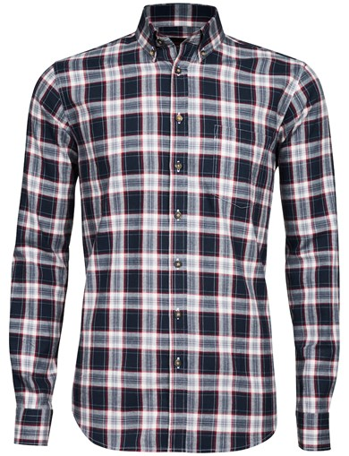 Blå - Basic Flannel Shirt