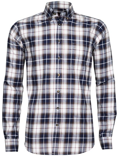 Hvit - Basic Flannel Shirt