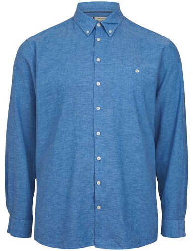 Linen LS Shirt Blue