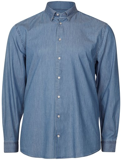 Relaxed Formal Blue Shirt