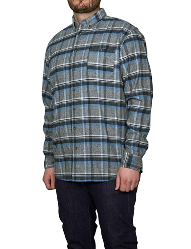 Shirt Heavy Flannel Check Blue