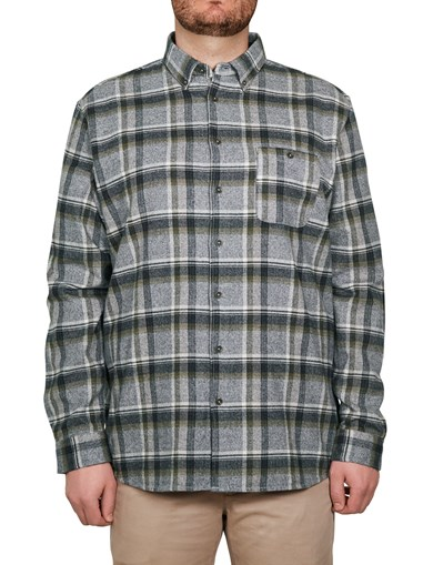 Shirt Heavy Flannel Check Olive