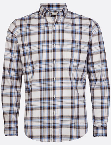 Shirt Brushed Check White