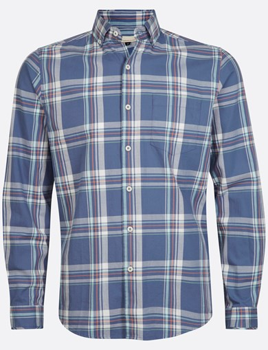 Shirt Brushed Check Blue