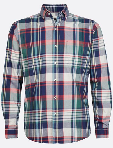Shirt Brushed Check Green