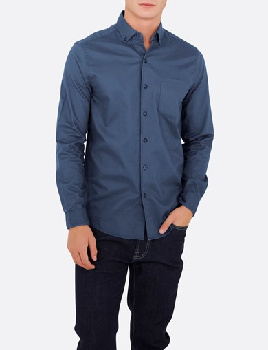 Shirt Brushed Blue - Slim Fit