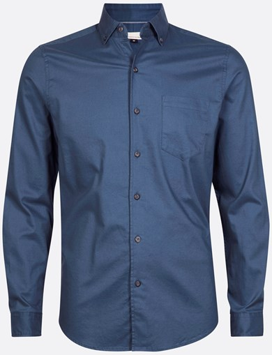 Shirt Brushed Solid Blue