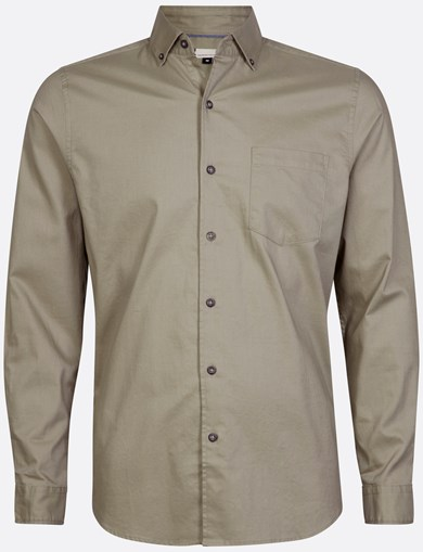 Shirt Brushed Solid Army